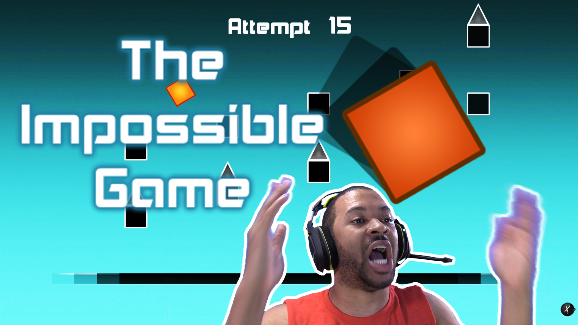 I'M A SAVAGE!!!! [THE IMPOSSIBLE GAME - LEVEL ONE] Thumbnail